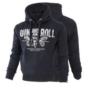 "Kapuzensweatshirt ""Gun and Roll"""
