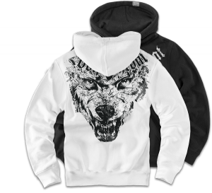"Kapuzensweatshirt ""Wolf Throat"""