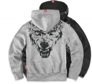 "Kapuzenjacke,zip ""Wolf Throat"""